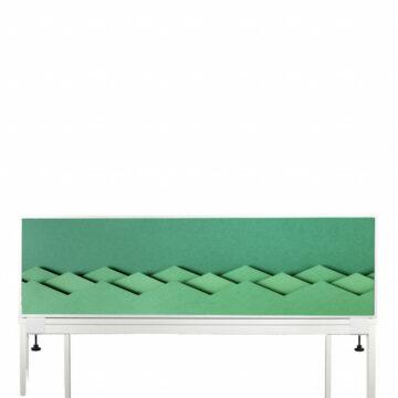 Akoestische Deskdivider | Groen