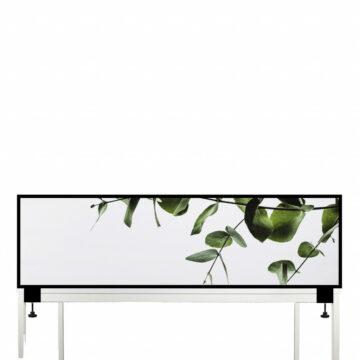 Akoestische Deskdivider | Groene bladeren