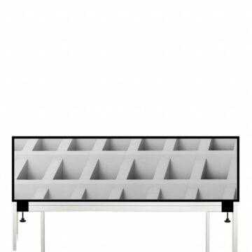 Akoestische Deskdividers | Witte Blokken