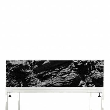 Akoestische Deskdividers | Zwarte Stenen