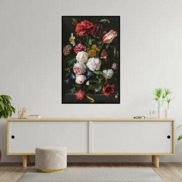 Akoestische panelen | Zwarte Bloemen