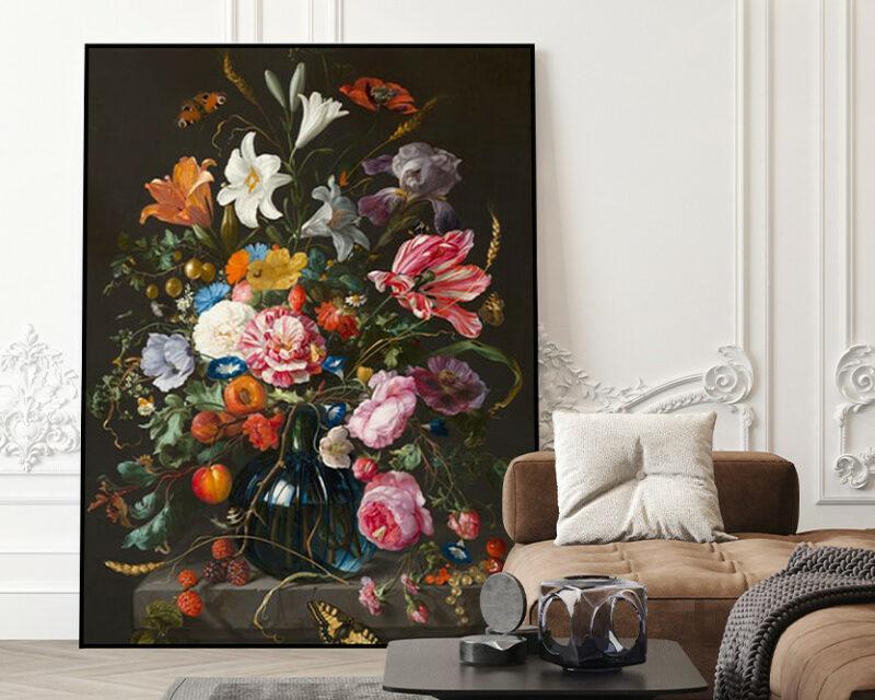 Akoestisch paneel   Zwarte Bloemen
