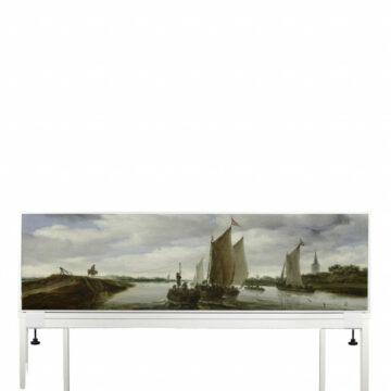 Akoestisch-Deskdivider-Salomon-van-Ruysdael,-Rivierlandschap-met-zeilboten-en-een-trekschuit,-1660.jpg