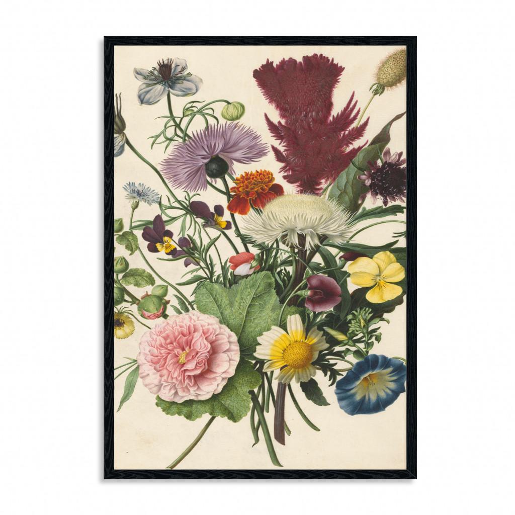 Wandpaneel   Boeket bloemen