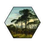 Hexagons Italiaans Landschap Enkel