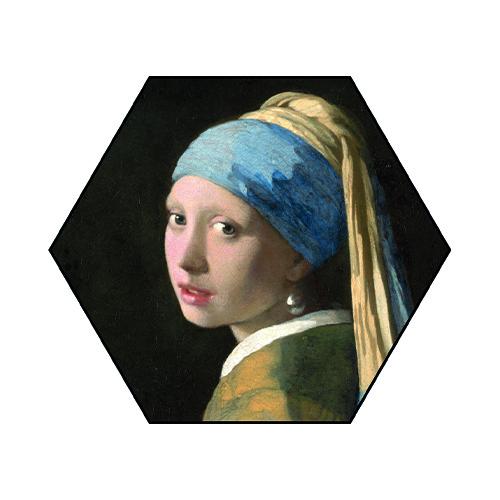 Hexagons Meisje met de parel enkel
