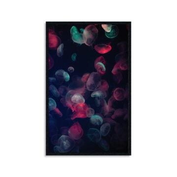 Wandpaneel   Colored jellyfish