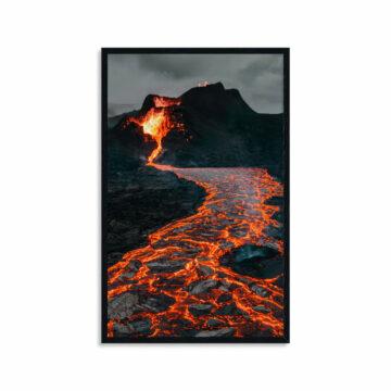 Wandpaneel | Vulkaan